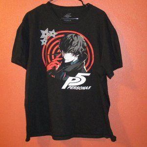 Sega Persona 5 XL Black White Red Shirt